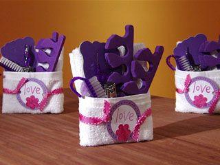 Muy bueno como souvenirs de cumpleaños o un detalle como regalo  Good for a birthday treat to your guests or just a little gift  :)   Manualidades y Artesanías | Set para baño | Utilisima.com