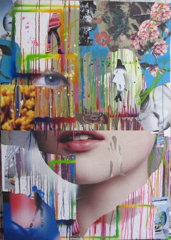 Flower / Sébastien Le Guen    Mixed MediaAssemblage / Collage   ( James Rosenquist )