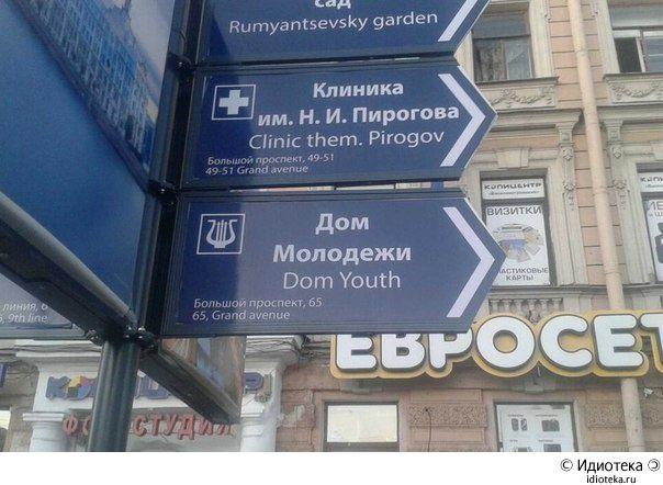 Навигация для иностранцев