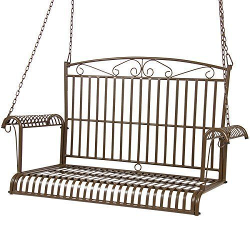 Best Choice Products Iron Patio Hanging Porch Swing Chair Bench Seat Outdoor #BestChoiceProducts