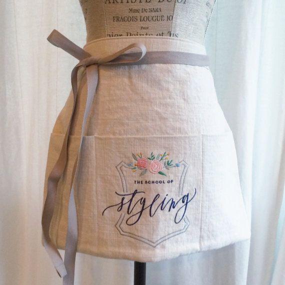 custom HALF apron : vendor aprons custom by oatmeallacedesign