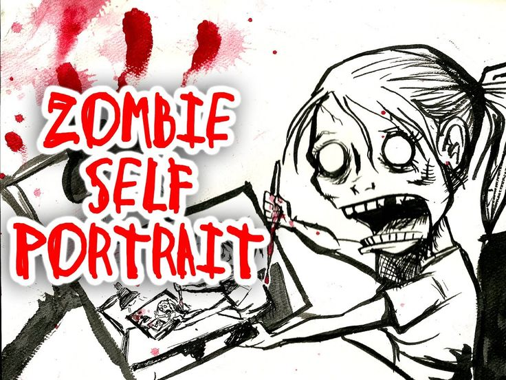 ZOMBIE PORTRAIT a drawing of a drawing of a drawing...