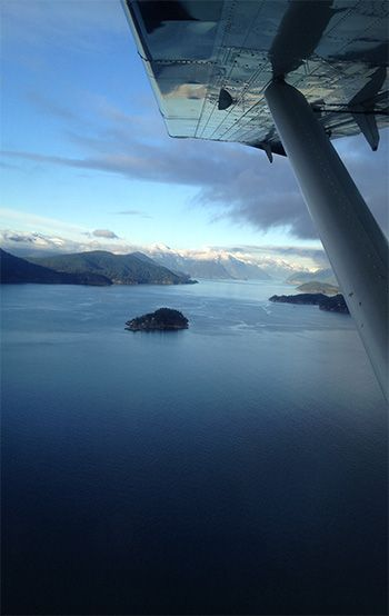Glorious views from Vancouver to Victoria on @Kathryn Harbour Air Seaplanes