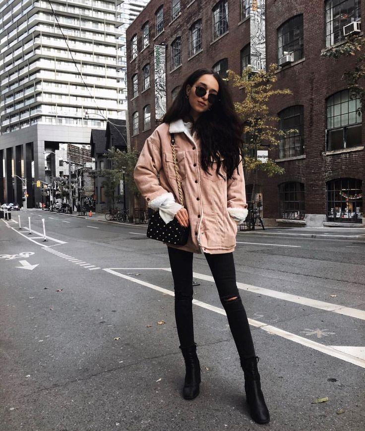 • Pink Corduroy Trucker Jacket •
