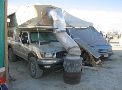 How To Make A Portable Evaporative Cooler | http://homestead-and-survival.com/how-to-make-a-portable-evaporative-cooler/