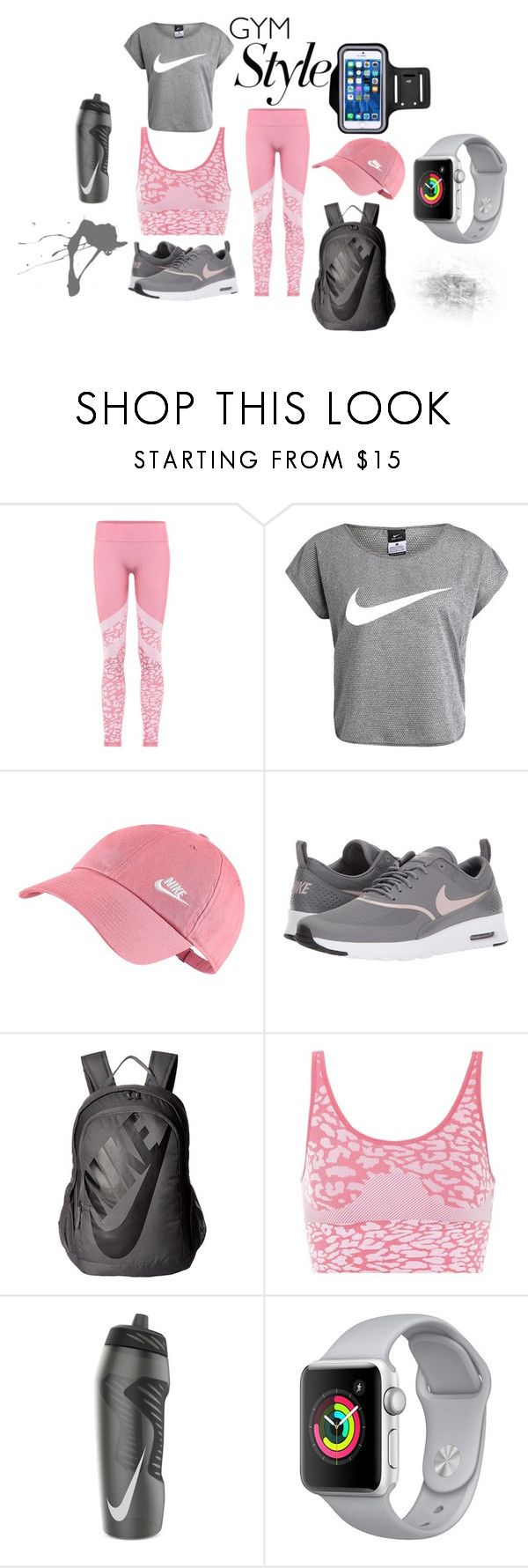 """""""Gym Time"""" by haleyloomis ❤ liked on Polyvore featuring Varley, NIKE and Apple"""