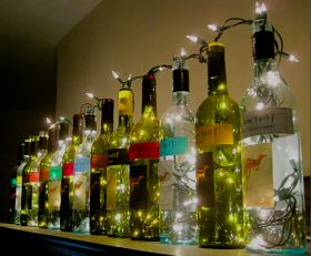 the surznick common room: Wine Bottle Lights