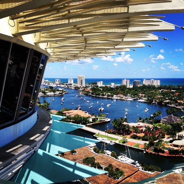 A beautiful day in Fort Lauderdale at @hyattpier66. Photo courtesy of Trey Stein .