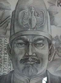 Kul Tigin (Old Turkic: Pinyin: quètèqín, Wade-Giles: chüeh-t'e-ch'in, ? - 575 AD) was a general of the Second Turkic Kaganate. He was second son of Ilterish Shad and younger brother of Bilge Kagan. During the reign of Mochuo Kagan, Kul Tigin and his older brother earned reputation for their military prowess. They defeated Kyrgyz, Turgesh, Karluks, and extending Kaganate territory to the Iron Gates (modern day Derbent in Dagestan). They also subjugated all nine of the Tokuz Oguz tribes.