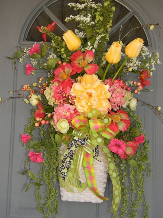 396 best images about flowers on pinterest floral Spring flower arrangements for front door