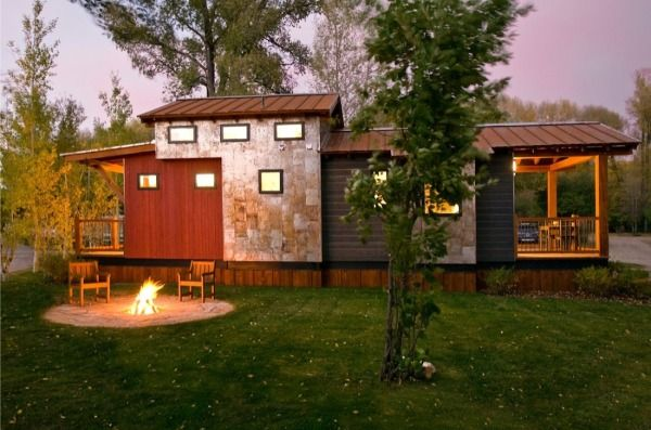 Tiny House Talk - Small Spaces More Freedom | The Caboose: 400 Sq. Ft. Cabin by Wheelhaus | http://tinyhousetalk.com