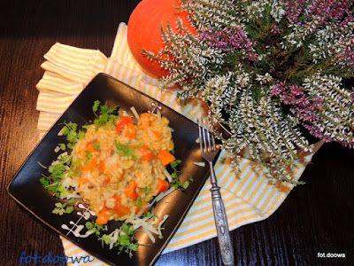 Moje Małe Czarowanie: Dyniowe risotto z pieczarkami