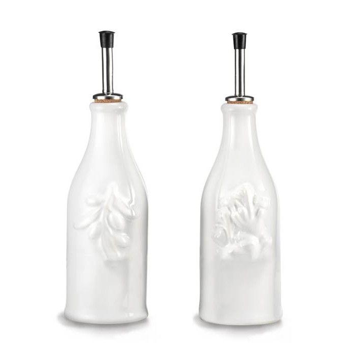 French Classique 2 Piece Provence Olive-Oil and Vinegar Bottle Condiment Set