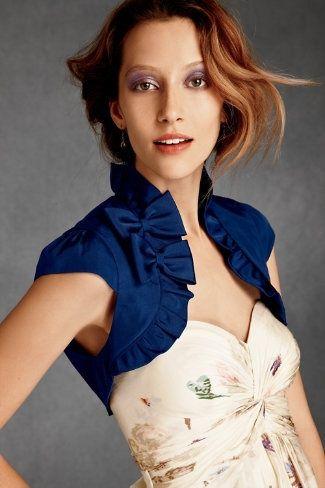 モード感たっぷりなブルーのボレロはエレガントに着たい♡トレンドのボレロモテコーデ一覧♡人気・おすすめ☆