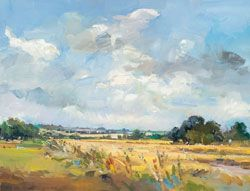 David Atkins: Fields in Early Summer Campden Gallery, fine art, Chipping Campden,