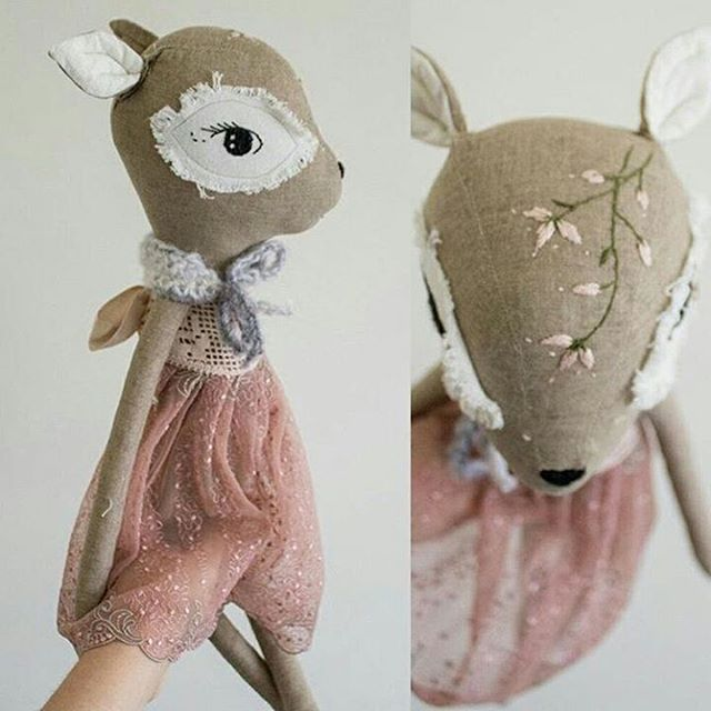 One of the fawns arrived yesterday to her new home   Abby @stellakatehandmade took her such a beautiful photos that I have to show you