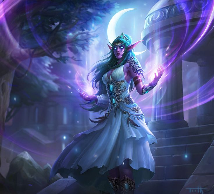 #warcraft #elfe #elf #pretre #priest #tyrande #murmevent #whisperwind #hearthstone