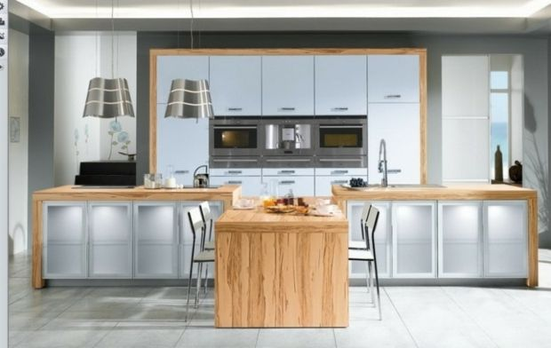 magnifique cuisine blanche et bois