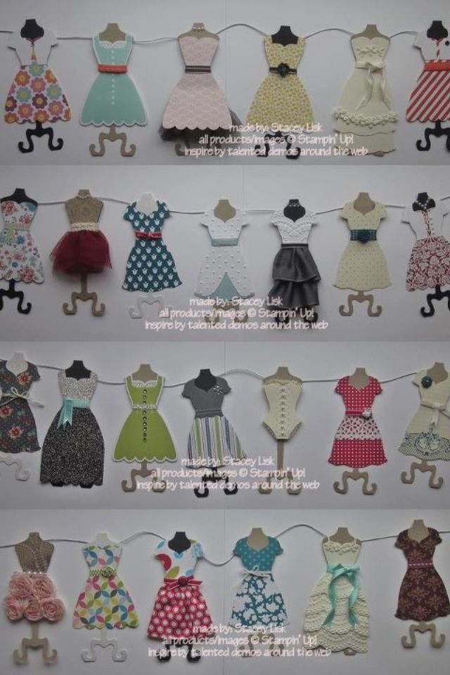 AWESOME! Dress up Framelits. Stampin up!This would be so cute in laundry room clothesline decoration