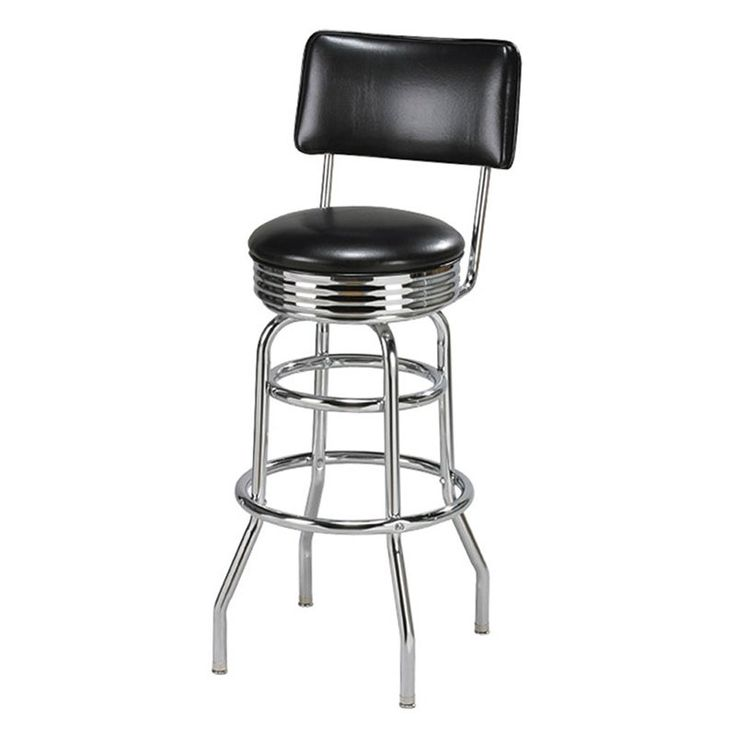 Have to have it. Regal Retro Fountain 30 in. Metal Bar Stool with Chrome Seat Edge - $149 @hayneedle