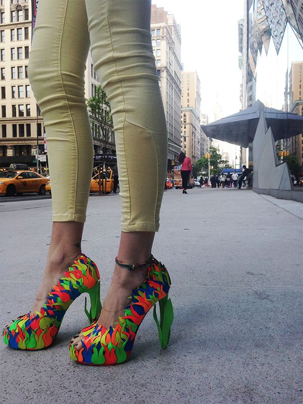 Tulip shoe in New York streets