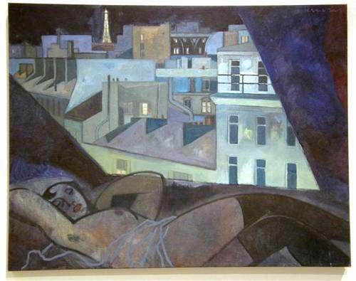 Gary Kelly Original Oil on Canvas 'Postcard from Hotel Opera Cadet' - Gary Kelley - RonSusser.com