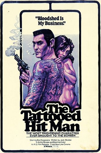 The Tattooed Hitman (1977): Hitman 1977, Posters 1970S, Hit Man, Picture-Black Posters, 1970S Movie, Tattoo Hitman, Bmovi Posters, Film Posters, B Movie Posters