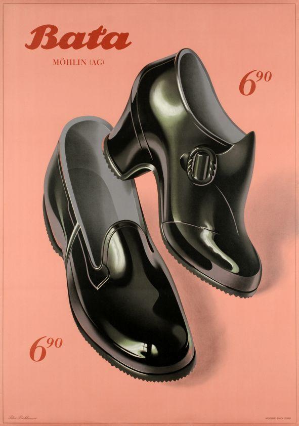 Shiny bata shoes vintage poster