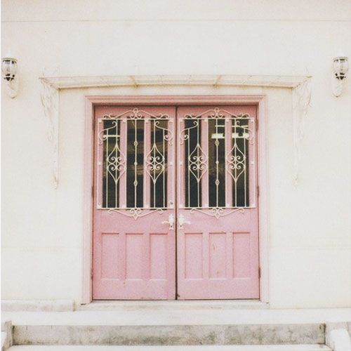 pretty pink doors