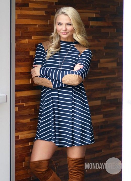 Turnin' Me Up Dress in Navy | Monday Dress Boutique