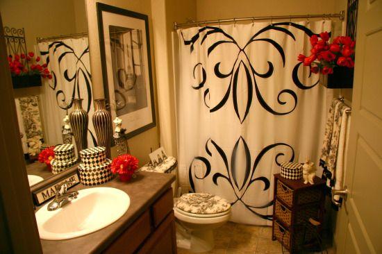 best 10 red bathroom decor ideas on pinterest grey. Black Bedroom Furniture Sets. Home Design Ideas