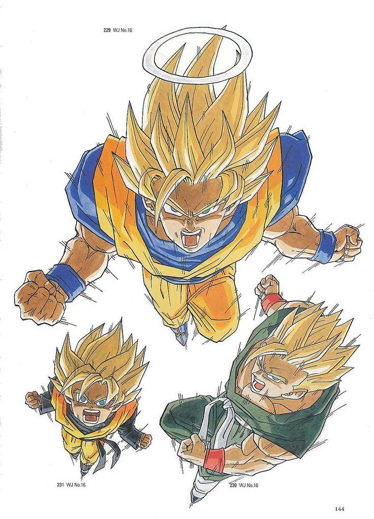 Dragon Ball Z. Goku SSJ2. Gohan SSJ2. Goten SSJ.