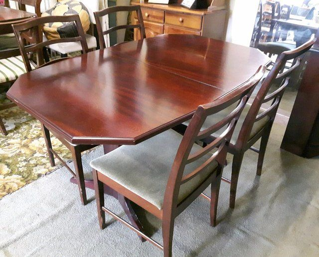 Extending Mahogany Dining Table Four Chairs For Sale In Dewsbury West Yorkshire