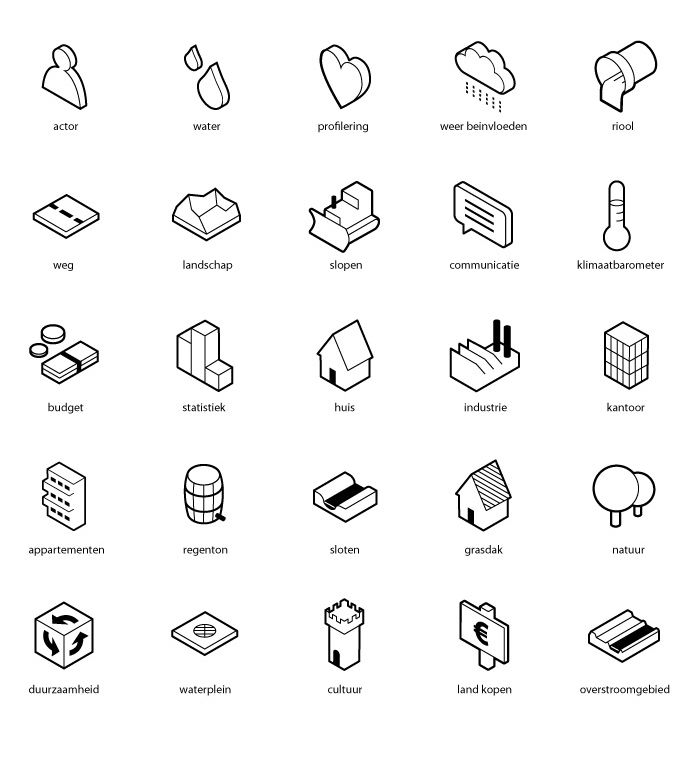 Tygron game ui symbols (Silo design)