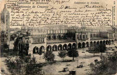 La halle aux draps ou Sukiennice à Cracovie