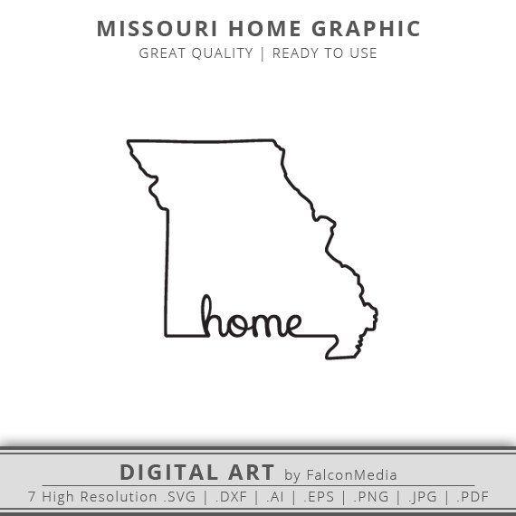 Missouri Svg Missouri State Svg Missouri State Outline Svg Mizzou Svg Cricut Silhouette State Outline Missouri State Missouri