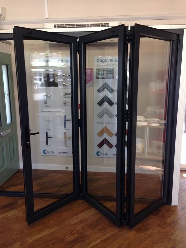Our new Origin aluminium Bi-Fold Doors now in out showroom - langley mill & 10 best Origin Bi-fold doors images on Pinterest | Bi fold doors ...