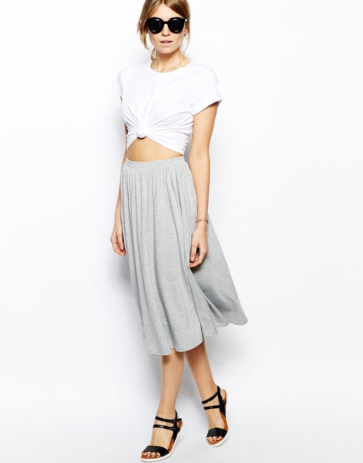 ASOS Full Midi Skirt Made from a soft touch fabric blend