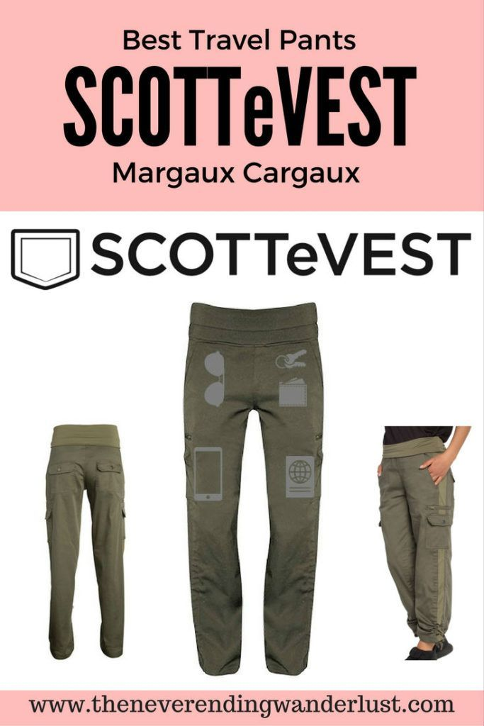 Best Travel Pants - SCOTTeVEST. These stylish and comfortable pants are my top pick for traveling!
