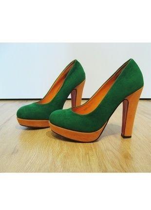 Kup mój przedmiot na #vintedpl http://www.vinted.pl/damskie-obuwie/na-wysokim-obcasie/9907059-zielono-pomaranczowe-buty-na-slupku  #buty #zielone #pomaranczowe #wygodne #na_slupku #36 #szpilki #skora #pins #heels