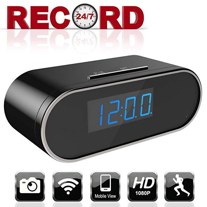 HD 1080P Spy Hidden Camera Clock Wifi Wireless Security Home Office Nanny Camera