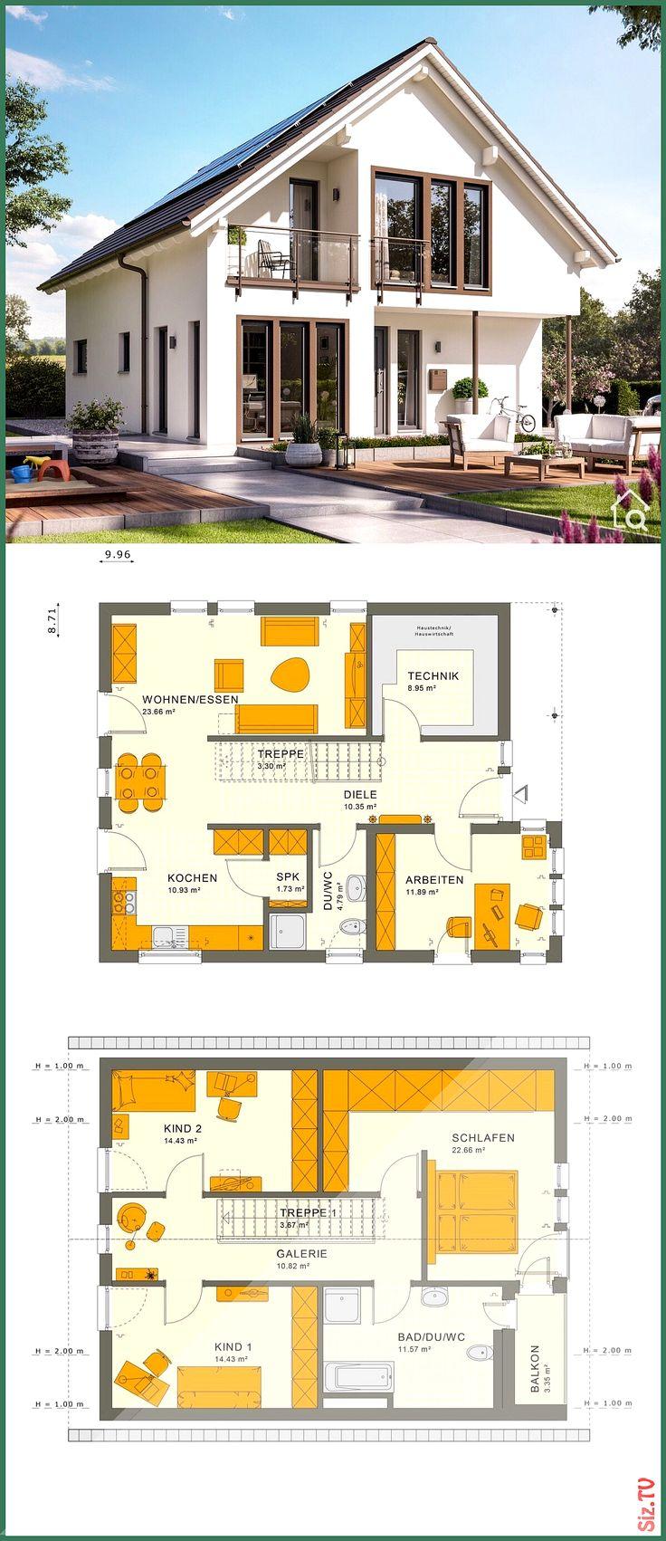 Einfamilienhaus Neubau klassisch mit Satteldach 038 5
