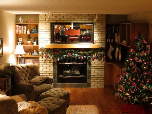 Christmas library/ family room