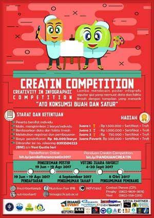 #Lomba #Desain #Poster #Infografis #CREATIN #IPB #Bogor CREATIN Competition 2017 Lomba Desain Poster Infografis  DEADLINE: 19 Agustus 2017  http://infosayembara.com/info-lomba.php?judul=creatin-competition-2017-lomba-desain-poster-infografis