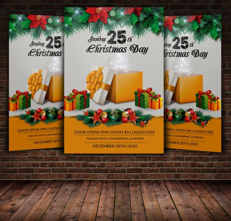 15 best 15+ Christmas Party Invitation Flyer Templates images on ...