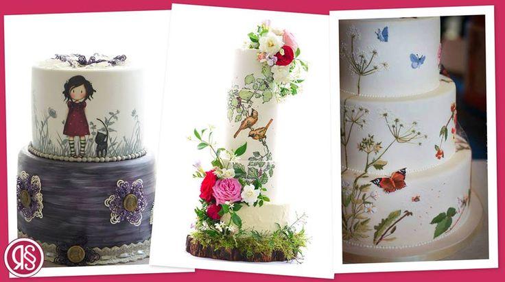L'evoluzione del cake design per questa primavera? Le Handpainted Cakes: torte dipinte a mano direttamente sulla pasta di zucchero, per ogni occasione e perfette per personalizzare la tua torta nuziale.