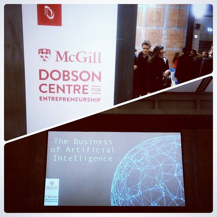 An excellent presentation with the head of the McGill student group of AI followed by a great feedback of the Canadian company Maluuba focused on the communication learning and an insightful talk with Jean-Sébastien Cournoyer cofounder of Element AI. Be ready for a new technology era  . . . #AI #artificial #intelligence #technology #talk #presentation #future #dontmissout #dobson  #mcgill