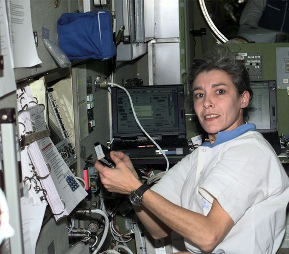 First French Woman in SpaceCredit: NASADoctor Claudie Haignere was the first (and only) French woman to travel to space when she flew to the Russian space station Mir in 1996.  via space.com