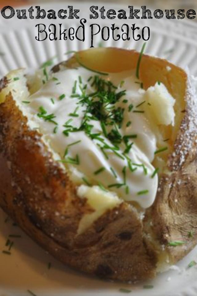 Make your own special salt encrusted baked potato just like the Outback Steakhouse just like they do with this #copycat recipe