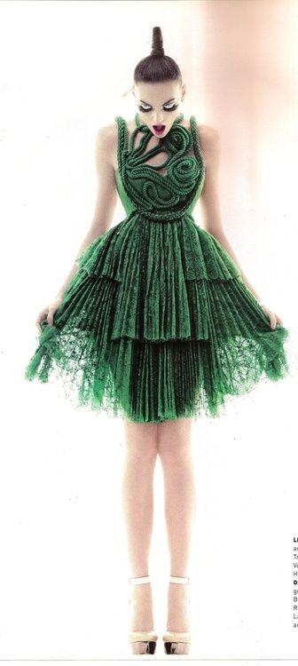 A piece of art- Little green dress http://www.luvtolook.net/2013/05/a-piece-of-art-little-green-dress.html